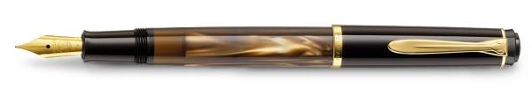 Pelikan Classic 200 Kolbenfuellhalter Braun Marmoriert