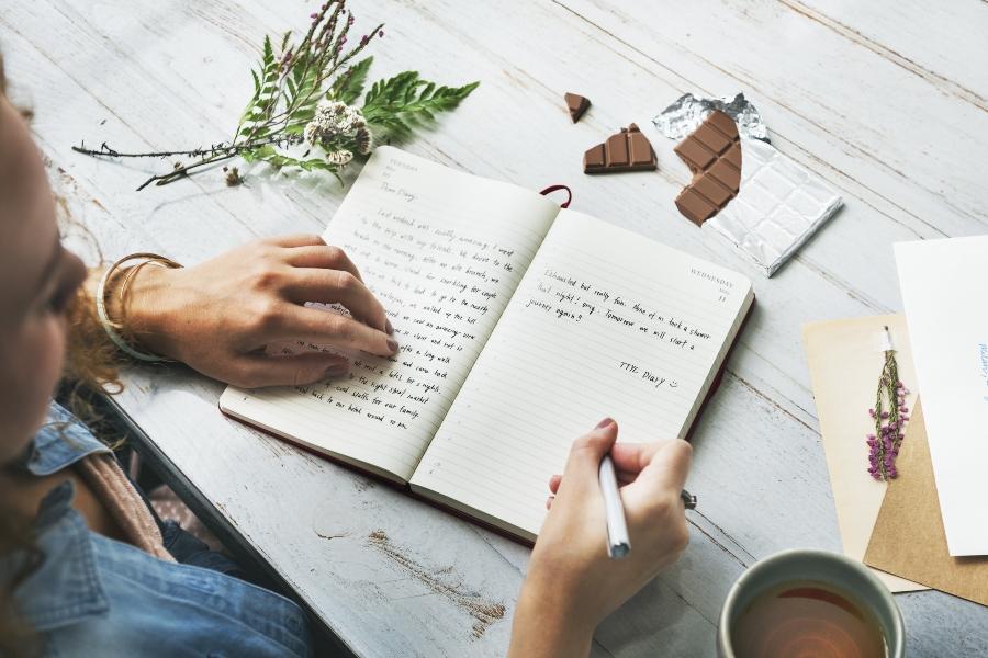 Jede Tageszeit eignet sich fuer Ihre Notizen tagebuch-schreiben
