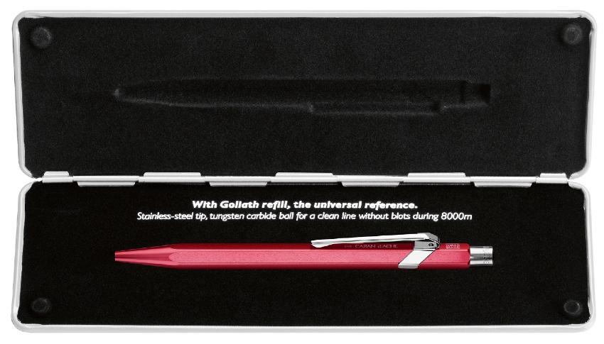 Caran d'Ache 849 Pop Line Kugelschreiber Metallic Rot mit Etui