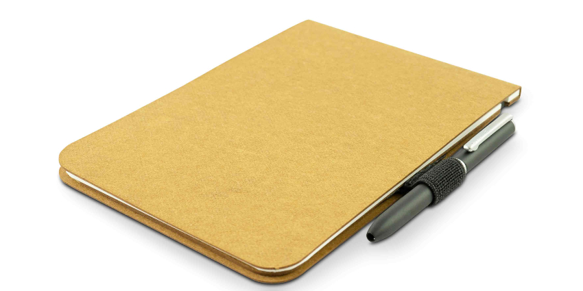 Off Lines Zettelwirt Notizblock 9x13cm Sahara mit Stiftschlaufe und Stift