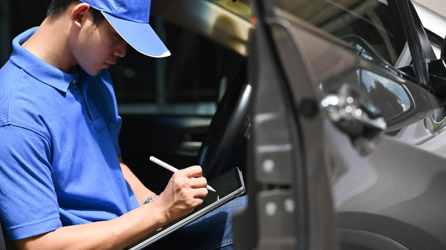 Lieferdienst Checkliste Tablet-Computer