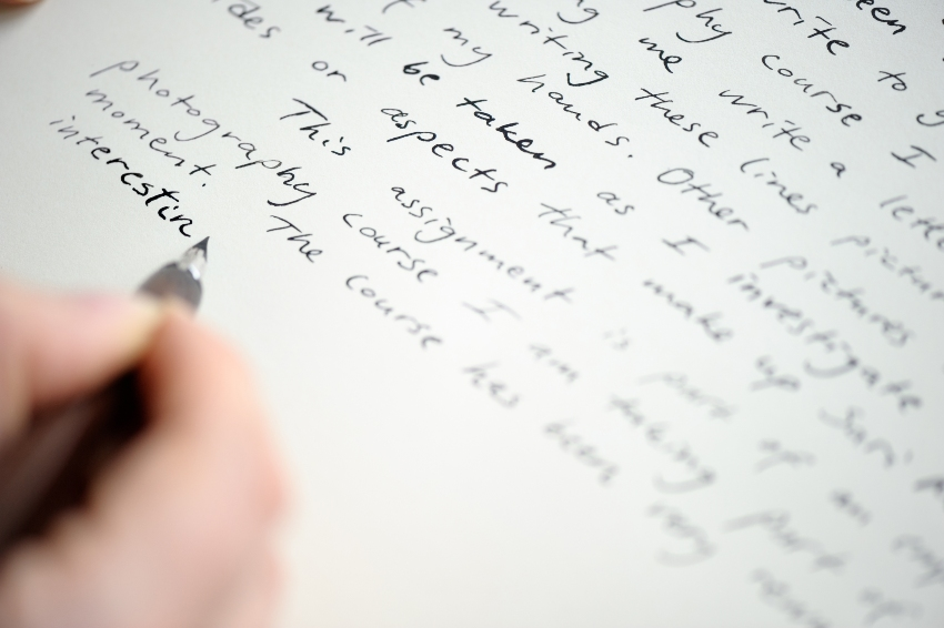 Handschrift verbessern - Brief schreiben