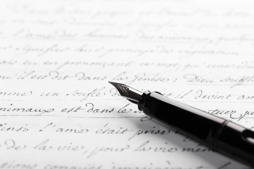 Brief mit Füller