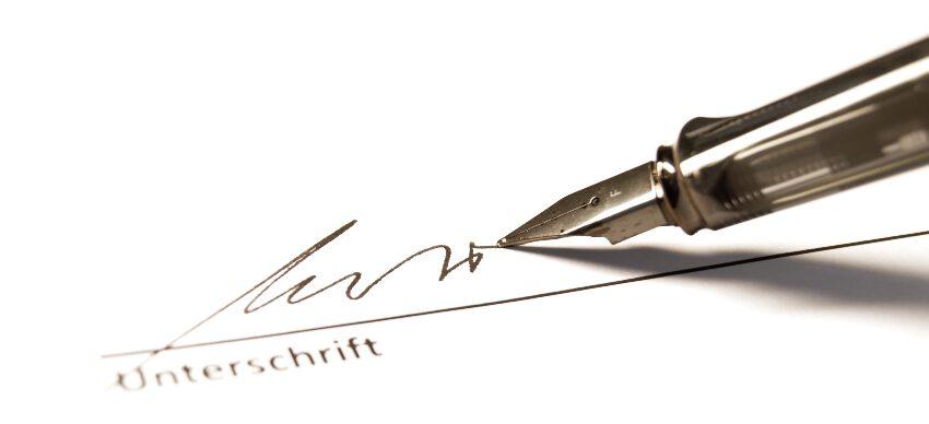 Füllfederhalter zum Unterschreiben