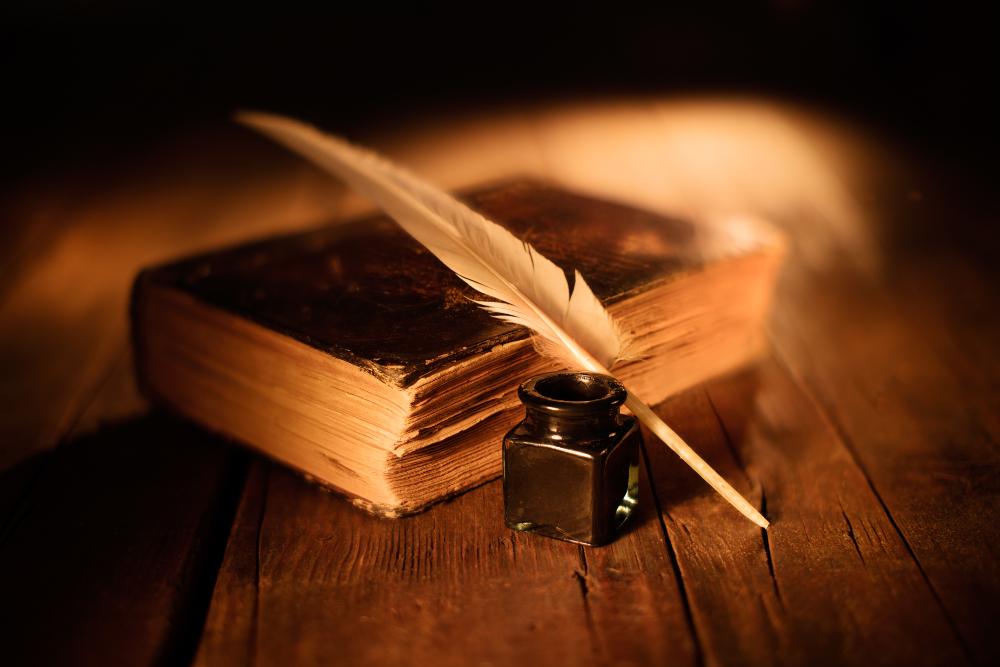 Federkiel als Schreibgerät