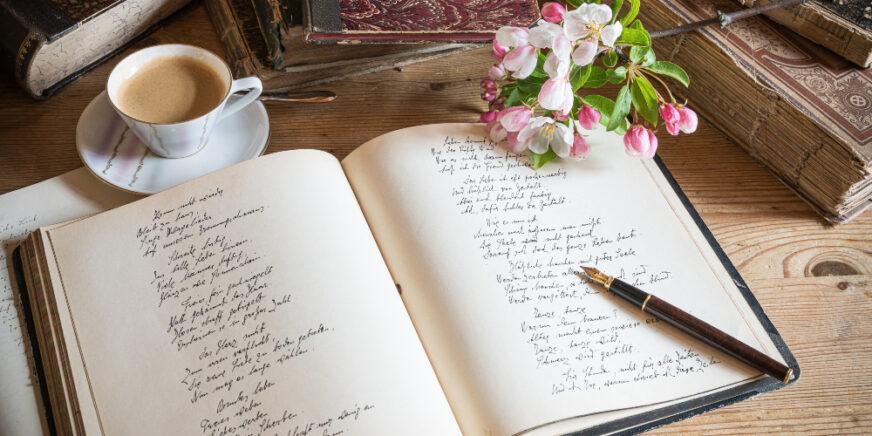 Tagebuch in Handschrift - Schönschrift üben