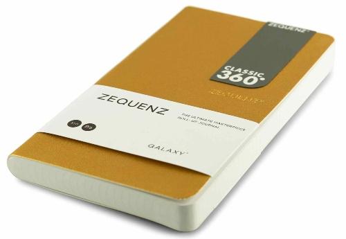 Zequenz Galaxy 360 Notizbuch B6 Slim Gold 10x17,8 cm | liniert, kareirt oder blank