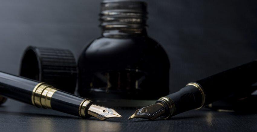Konverter und Kolbenfüller mit Tinte