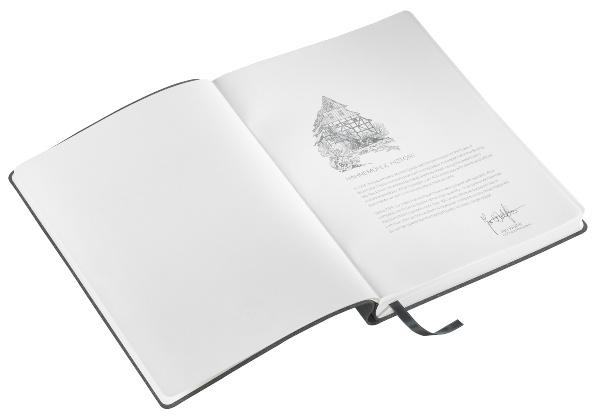 Hahnemühle MANUSCRIPT A5 Notizbuch recycl. Leder Schwarz - Schreibpapier