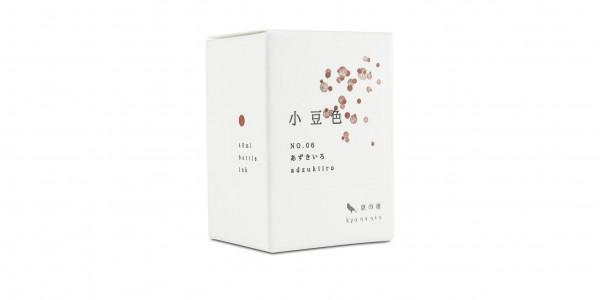 Kyo no oto Tintenglas Adzukiiro Rot Verpackung