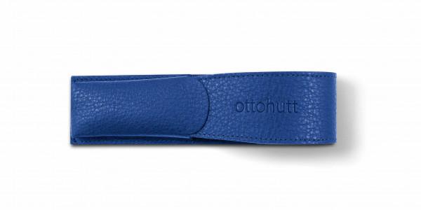 Otto Hutt Leder Etui Blau für 2 Schreibgeräte
