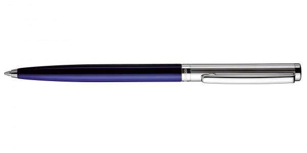 Otto Hutt Entwurf 01 Kugelschreiber Streifen Guilloche Blau