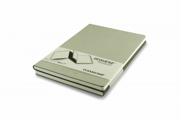 Zequenz Duo Plus 360 Notizbuch A5 Silber Grau