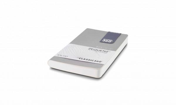 Zequenz Galaxy Notizbuch 360 Silber A6- Mini