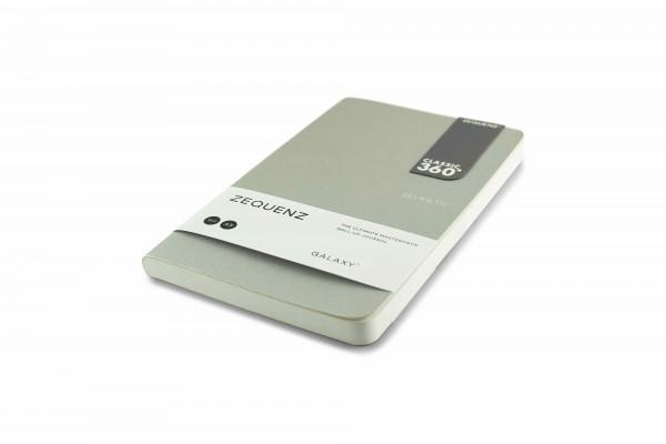 Zequenz Galaxy 360 Notizbuch A5 Slim Silber 13x21 cm