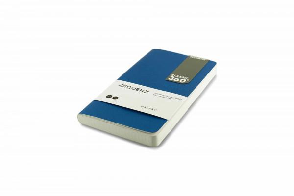 Zequenz Galaxy 360 Notizbuch B6 Slim Blau 10x17.8 cm