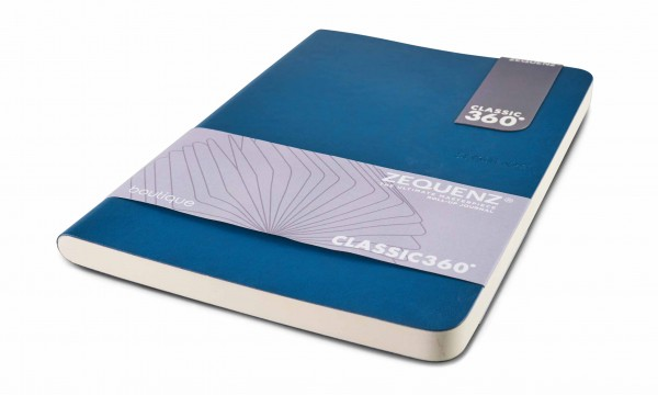 Zequenz Boutique Notizbuch 360 Blau A5 14.8x21 cm