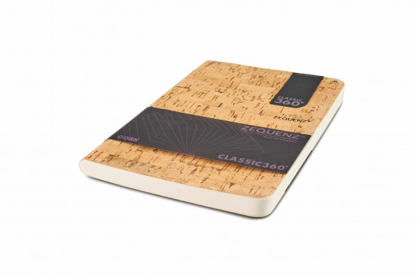Zequenz Cork Notizbuch 360 Natural B B6 Lite