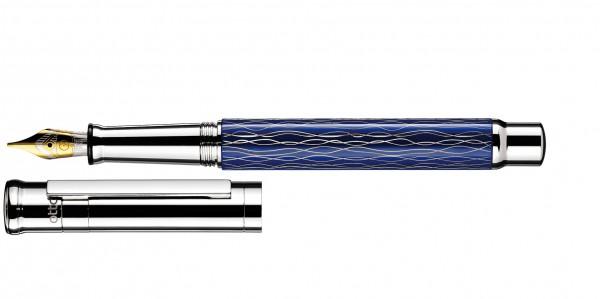Otto Hutt Entwurf 04 Füllhalter Welle Blau