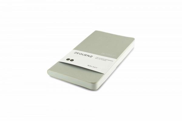 Zequenz Galaxy 360 Notizbuch B6 Slim Silber 10x17,8 cm