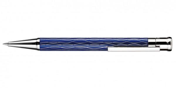 Otto Hutt Entwurf 04 Dreh Bleistift Welle Blau