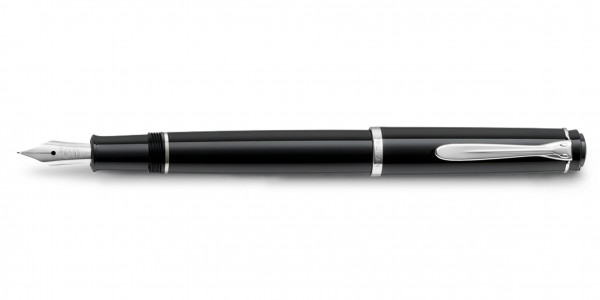 Pelikan classic 205 cartridge fountain pen black silver