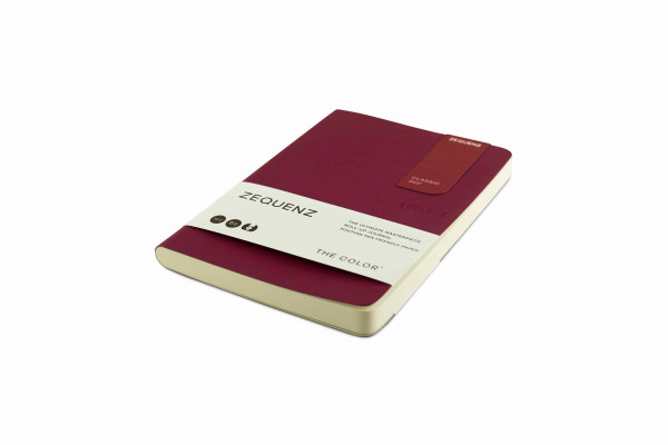 Zequenz The Color Notizbuch B6 Beeren Bordeaux