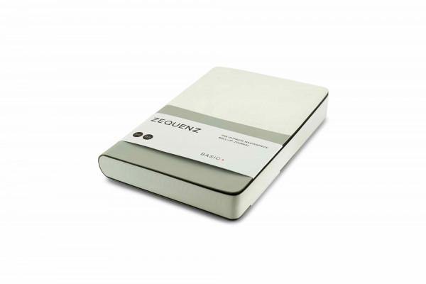 Zequenz Basic Plus 360 Notizbuch B6 Weiß Silber