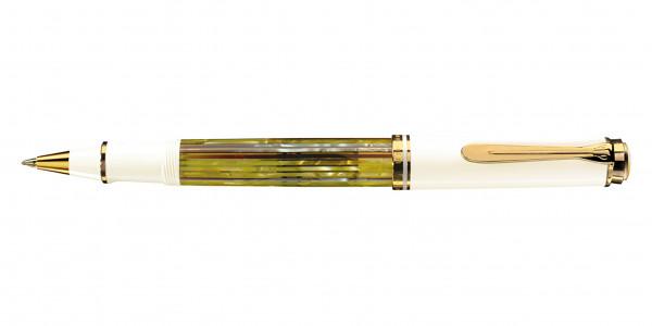 Pelikan Souverän 400 Tintenroller Schildpatt Weiß