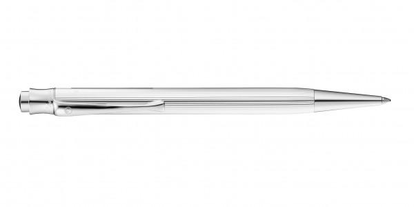Waldmann Tango Druckkugelschreiber Silber Linien-Design