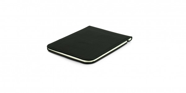 Off Lines leather notepad A7 black