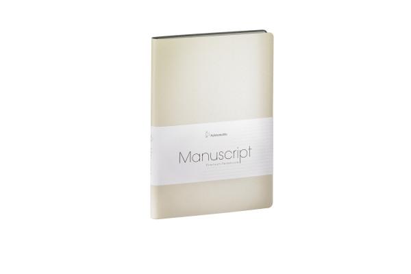 Hahnemühle MANUSCRIPT A5 Notizbuch recycl. Leder Beige