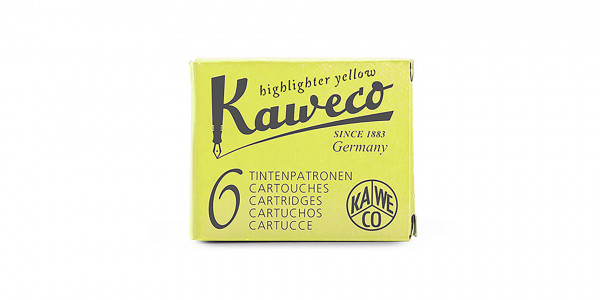 Kaweco Tintenpatronen Highlighter Gelb