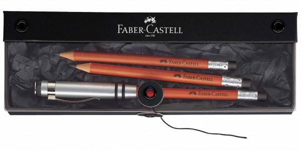 Faber-Castell Geschenkset Perfekter Bleistift Design Braun