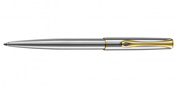Diplomat Traveller Kugelschreiber Edelstahl Gold