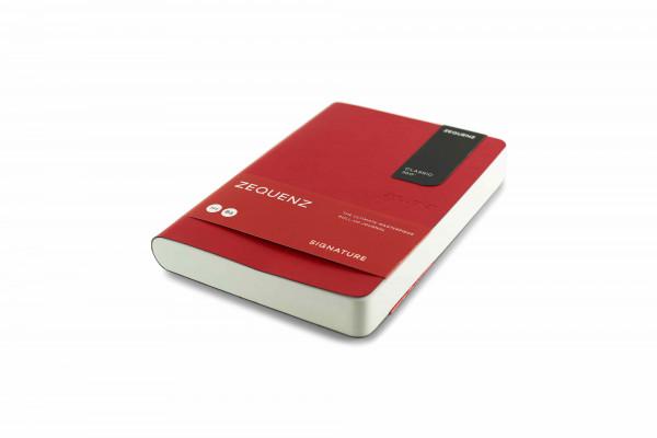 Zequenz Signature Classic 360 Notizbuch B6 Rot