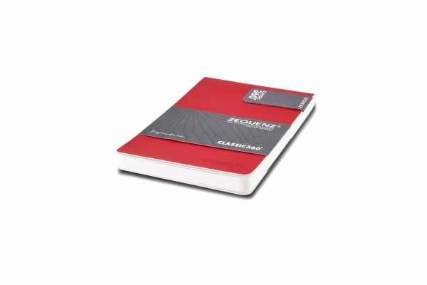 Zequenz Signature Notizblock 360 Rot A6- 9.5x14.5 cm