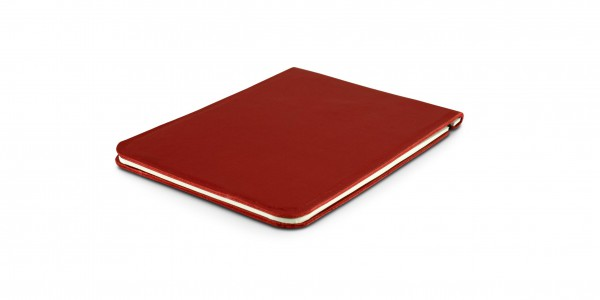 Off Lines leather notepad 9x13 cm red