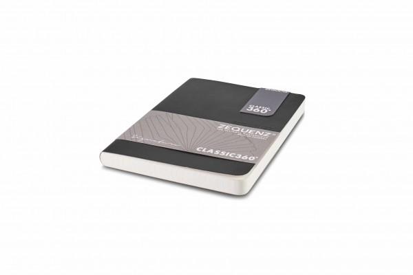 Zequenz Signature Notizbuch 360 Schwarz A6 Lite 10.5x14 cm