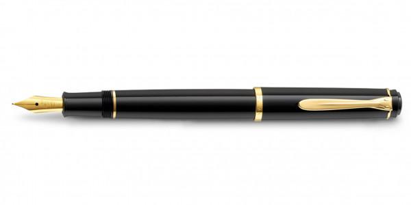 Pelikan Classic 200 Patronenfüllhalter Schwarz Gold