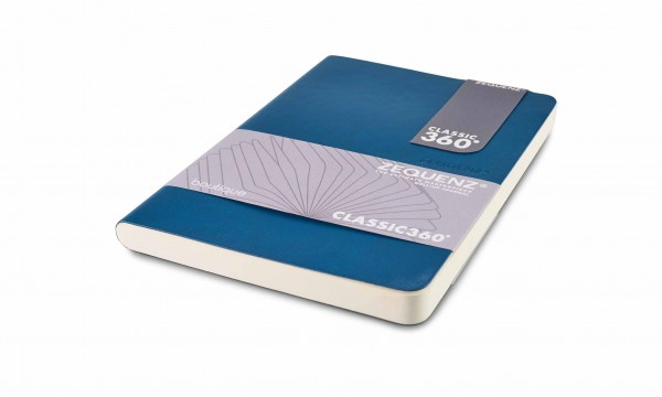Zequenz Boutique Notizbuch 360 Blau B6 13x15 cm