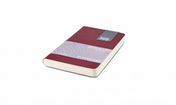 Zequenz Boutique Notizbuch 360 Aubergine A6- Mini