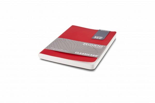 Zequenz Signature Notizbuch 360 Rot A6 Lite