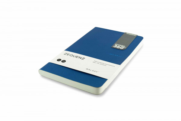 Zequenz Galaxy 360 Notizbuch A5 Slim Blau 13x21 cm