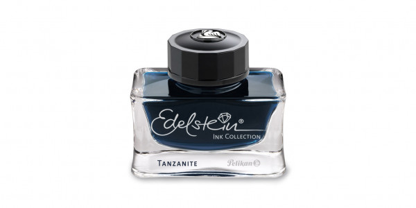 Pelikan Edelstein Tintenglas Tanzanite Dunkelblau