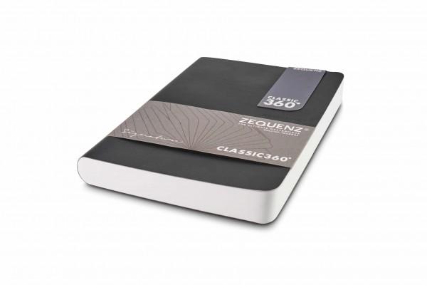 Zequenz Signature Notizbuch 360 Schwarz B6 13x18 cm