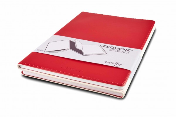 Zequenz Duo notebook white red A5