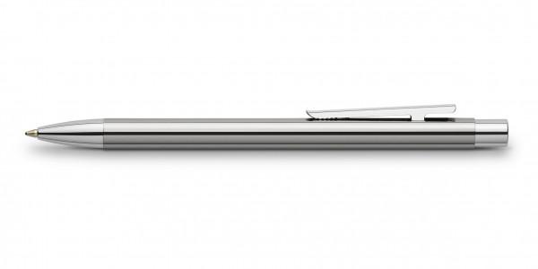 Faber-Castell Neo Slim Edelstahl Kugelschreiber Glänzend
