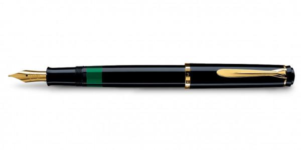 Pelikan Classic 150 Kolbenfüllhalter Schwarz Gold