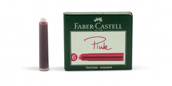 Faber-Castell Standard Tintenpatronen Pink löschbar
